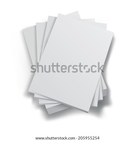 Stack of blank paper sheets. Vector illustration - stock vector