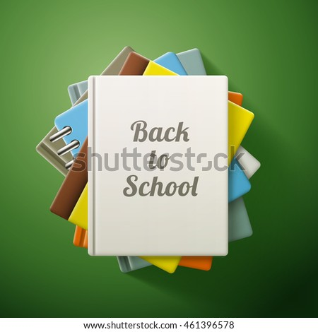 Stack of books, back to school. eps10 vector illustration
