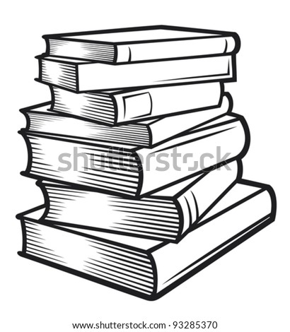 Stack of books (books stacked) - stock vector