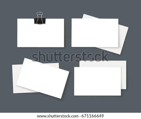 Stack business card template mock shadow stock vector hd royalty stack of business card template mock up with shadow isolated on dark business identity reheart Images