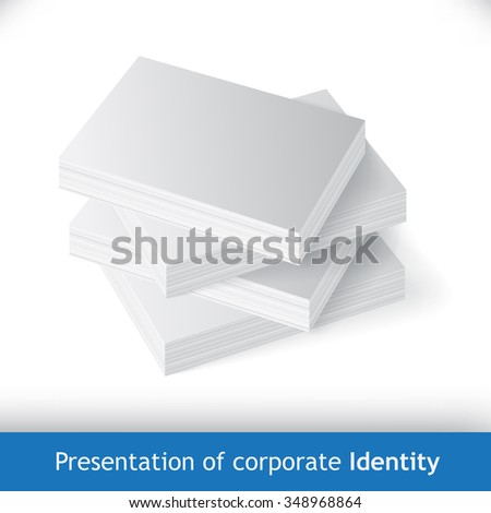 stack of business cards, or reams of paper - stock vector