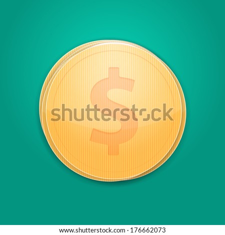 stack of coins. top view