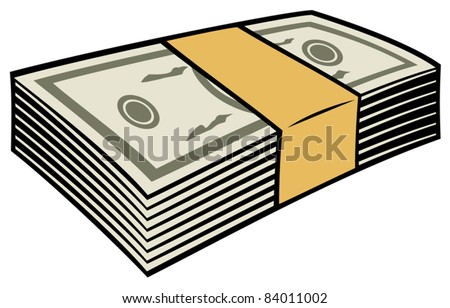 stack of money - stock vector
