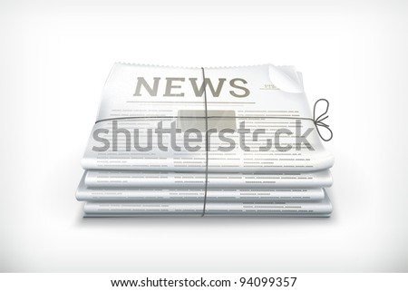 Stack of newspapers, 10eps - stock vector