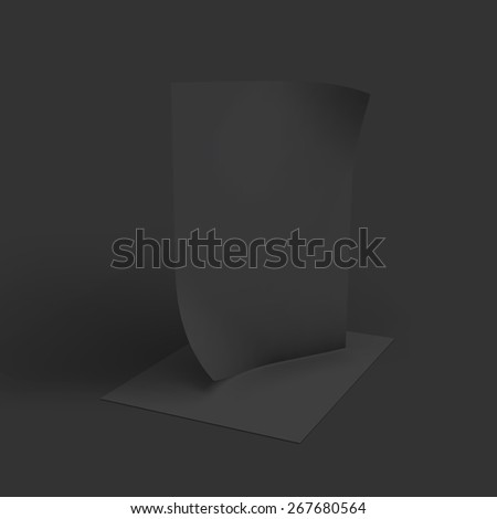 Stack of pages with curved corners. Business mockup template. Presentation of your branding and identity design. Vector Illustration EPS10. - stock vector