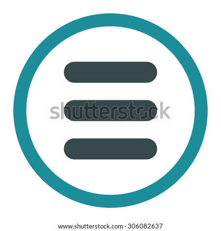 Stack vector icon. This rounded flat symbol is drawn with soft blue colors on a white background.