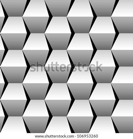 stacked cubes seamless pattern - stock vector