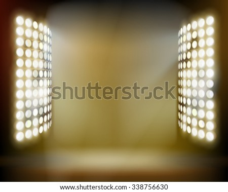 Stadium spotlights. Vector illustration. - stock vector