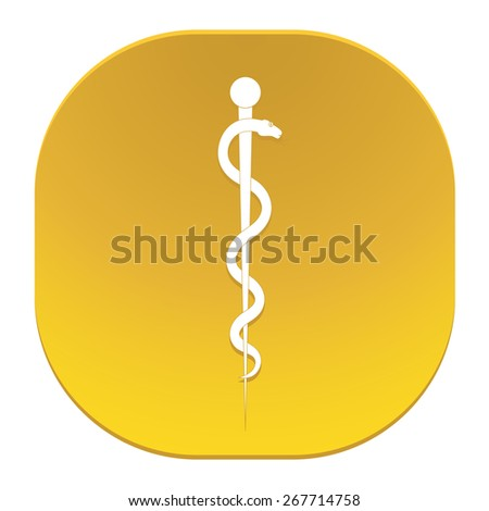 Staff of Aesculapius medical symbol - stock vector