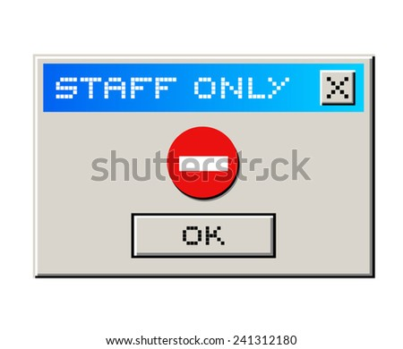Staff only message - stock vector