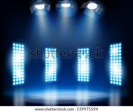 Stage effects. Vector illustration. - stock vector