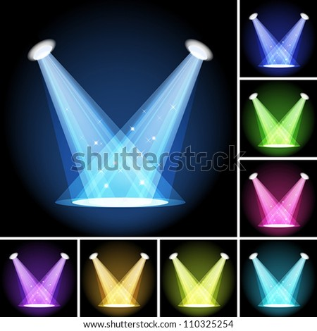 Stage light. Clipping Mask. Mesh. EPS10 - stock vector