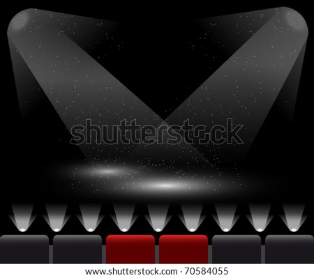 Stage lights. EPS10 vector illustration. - stock vector