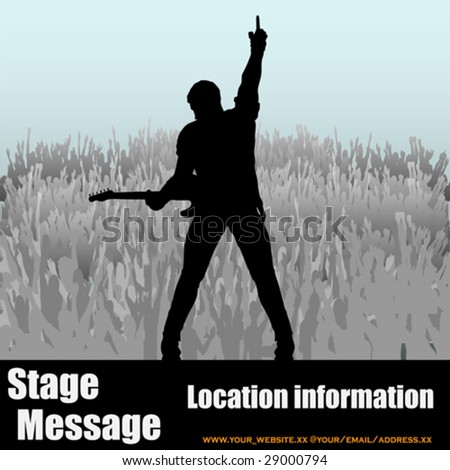 Stage Message - stock vector