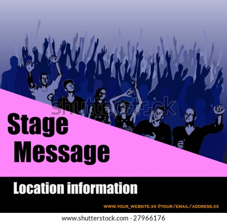 Stage Message Flyer - stock vector