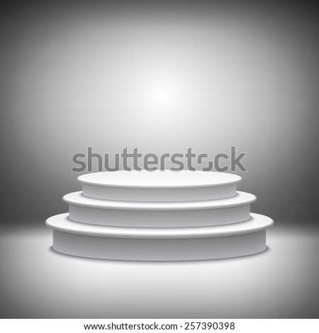 stage podium award ceremony vector illustration 3d show pedestal best - stock vector