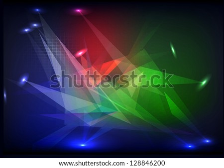 stage spot lighting shiny backgroung, vector - stock vector