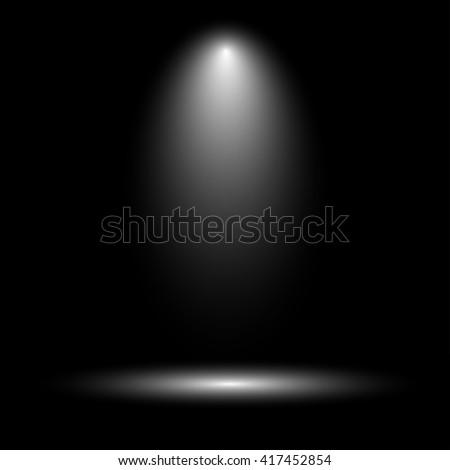 Stage spotlight on dark background - stock vector