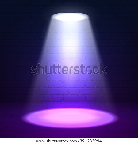 Stage spotlight on violet brick background. Spotlight. Spotlight. Spotlight. Spotlight. Spotlight. Spotlight. Spotlight. Spotlight. Spotlight. Spotlight. Spotlight. Spotlight. Spotlight. Spotlight - stock vector