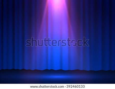 Stage spotlight vector background. Eps10.
