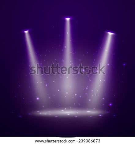 Stage. Vector illustration.