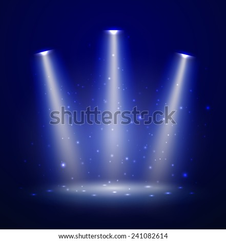 Stage. Vector illustration. - stock vector