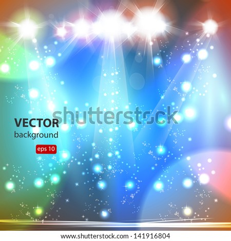 Stage, Vector illustration, easy all editable - stock vector