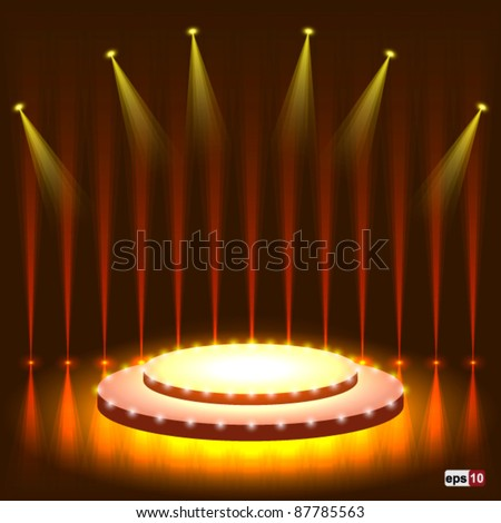 Stage with sparkle eps10 vector - stock vector