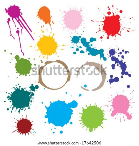 stain - stock vector