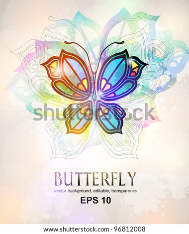 stained-glass background - stock vector