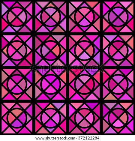 Stained glass pattern. Seamless background. - stock vector