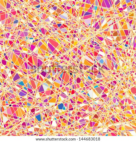 Stained glass texture in a orange tone, different orientation. EPS 10 vector file included - stock vector
