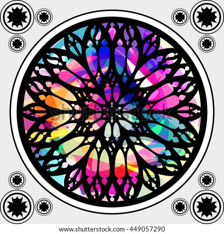 Stained Glass Window Gothic Architecture Element