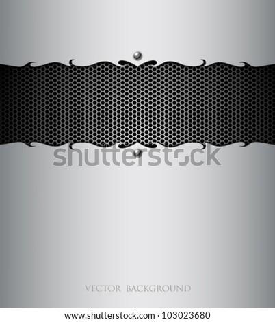 Stainless steel modern plate backgrounds, vector illustration - stock vector