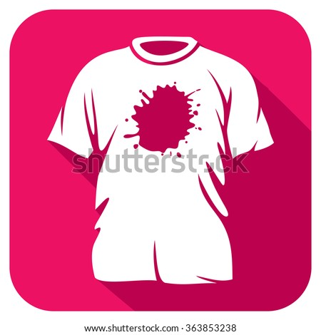 stains on t-shirt flat icon (dirty t-shirt flat icon)  - stock vector