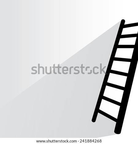 stair on white background, flat and shadow theme - stock vector