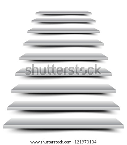 Stairs - stock vector