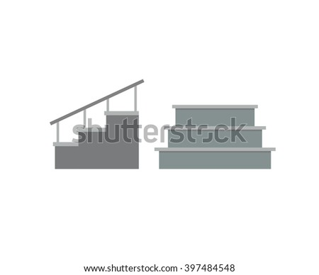 Stairs architecture elements and stairs elements stairway business step. Stairs elements abstract construction. Outdoor motion concrete stair. Stairs elements interior flat architecture concept vector - stock vector