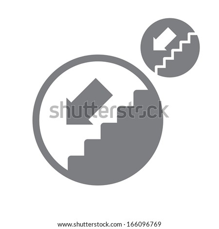 Stairs down vector simple single color stock vector for Simple single