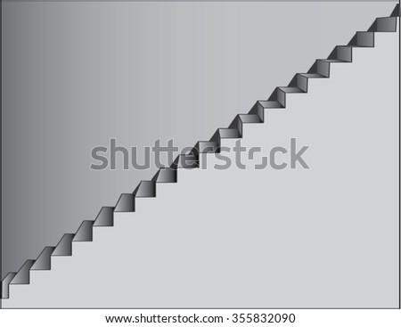 stairs illustration - stock vector