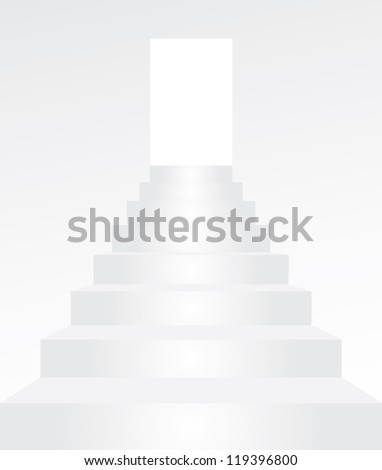 STAIRS ISOLATED ON WHITE BACKGROUND - stock vector