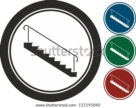 Stairs, vector, icon - stock vector