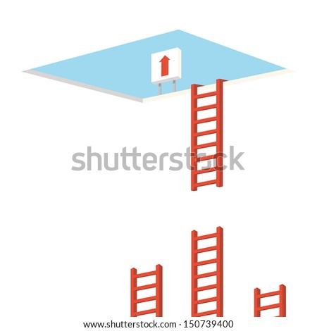 stairs way - stock vector