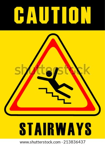 stairway sign on white background
