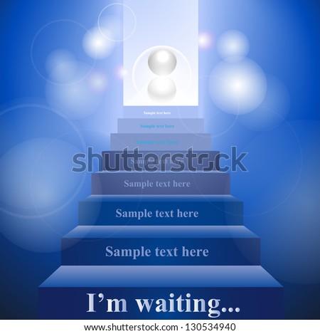 stairway to heaven sphere abstraction - stock vector
