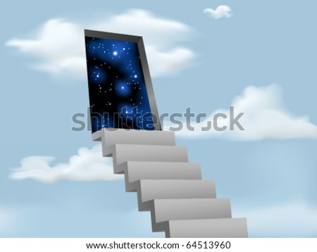 Stairway to the Stars - stock vector