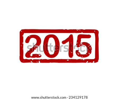 Stamp 2015 - stock vector