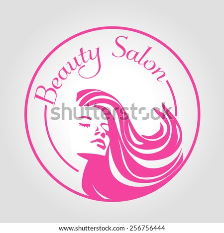 Stamp Beauty Salon - stock vector
