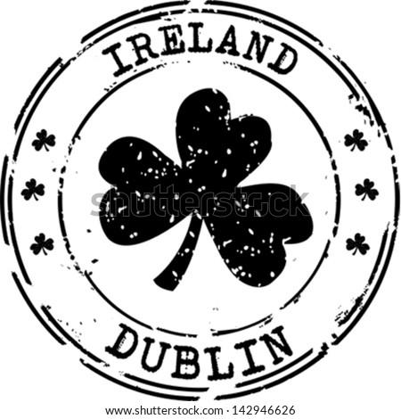 Stamp Dublin Ireland Stock Vector 142946626 Shutterstock