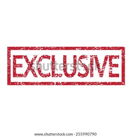 Exclusive Text stamp exclusive text